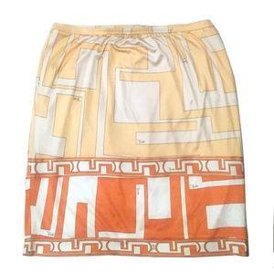 Emilio Pucci Greek Print Silk Skirt